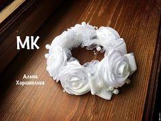 Украшение на пучок резинка на гульку в школу МК канзаши Алена Хорошилова tutorial ribbon bow flower - YouTube
