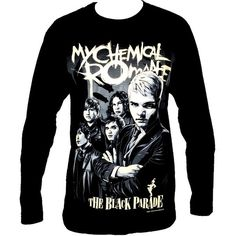 My Chemical Romance Rock Band Music Metal Long Sleeve T Shirt Size M L... ($16) ❤ liked on Polyvore featuring tops, black top, black long sleeve top, rock tops, long sleeve tops and metal top