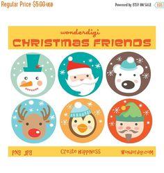 Imágenes Prediseñadas VENTA Navidad Clipart por wonderdigi en Etsy
