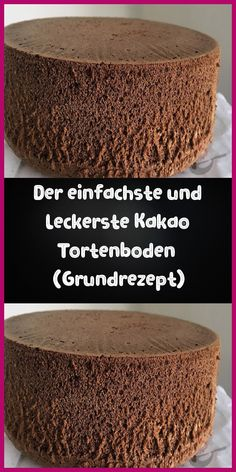 The simplest cocoa cake base (basic recipe) April 09 Der einfachste Kakao Tortenboden (Grundrezept) April 09 2019 Ingredients: 5 eggs 5 tablespoons sugar 5 tablespoons flour 5 tablespoons warm … - Easy Cake Recipes, Dessert Recipes, Cocoa Cake, Diy Y Manualidades, Chocolate Chip Pancakes, Chocolate Cake, Unsweetened Cocoa, Food Cakes, Baking Ingredients