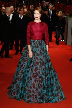 Léa Seydoux in Prada at the premiere of La Belle et la Bete