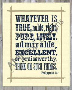 Philippians 4:8 Instant Download - Printable - Western - Cowboy - Bible Verse by AMPitupdesigns on Etsy