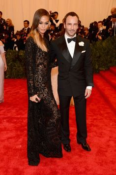 JOAN SMALLS AND TOM FORD AT THE 2013 MET GALA