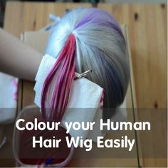 How to Color a Human Hair #Wigs #humanhairwigs #dyewig #colorwig