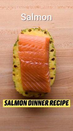 Salmon Recipes, Fish Recipes, Seafood Recipes, Dinner Recipes, Cooking Recipes, Healthy Snacks, Healthy Recipes, Salmon Dinner, Seafood Dishes
