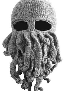 http://rubies.work/0868-ruby-pendant/ Tentacle Octopus Cthulhu Knit Beanie Hat Caps Beard Halloween Costume Cosplay Mask ** Trust me, this is great! Click the image. : Gift for Guys