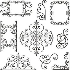 Wrought Iron design for lampshade