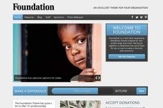 Here's a useful WordPress theme for non-profits and charities.