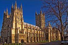 We take a look at the magic of Canterbury Cathedral. What it is that makes the ancient structure so cherished by its locals? Content licensed from DCD to Lit. Gothic Buildings, Gothic Architecture, Historical Architecture, Gothic Cathedral, Cathedral City, Thomas Cranmer, English Reformation, White Cliffs Of Dover, Leeds Castle
