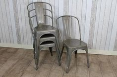 GUN METAL INDUSTRIAL VINTAGE TOLIX STYLE CAFE CHAIRS OTHER COLOURS AVAILABLE