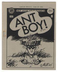 Ant Boy #1 Matt Feazell Underground Comix Mini-Comic Minicomic Limited Edition 1985   #minicomics #NewaveComix #MattFeazell