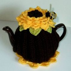 gorgeous inspiration or can purchase the set - sunflower tea cosy by cookie crochet | notonthehighstreet.com