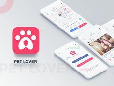 FOR SALE: Pet Lover - App UI Kit #appdesign #app #android #iOS #design #graphics #UI #UIdesign #UX #UXdesign #UIKIT