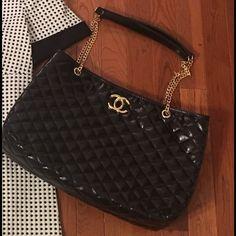 Large shoulder bag Inspired quilted bag Bags Shoulder Bags