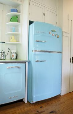 The first thing I buy for my one day home will be a colored 1950's fridge. I swear.