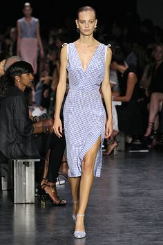 Picnic PlaidGuess who's back? Gingham is back. And we're very excited to wear this feminine print come spring. We especially love it in taupes, blues, and reds. This Altuzarra dress cuts it up in all the right ways.