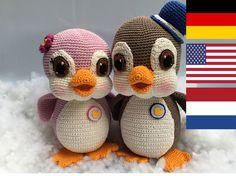 Pinguine Sally und Buck crochet Anleitung PDF (kein fertiges Produkt) Information: -Ich habe Catania Originals–Schachenmayr Garn und eine 2 -2,5 Nadelstärke benutzt. Die Pinguine sind 25 und...