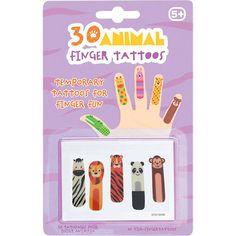 30 tatouages enfant pour doigts Petits animaux