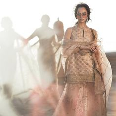 Sabyasachi Spring Summer Collection 2019 Is Every Bride's Outfit Goals! Sabyasachi Suits, Sabyasachi Lehenga Bridal, Lengha Choli, Lehnga Dress, Sharara, Anarkali, Golden Lehenga, Sabyasachi Collection, Bridal Necklace