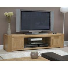 Trend Solid Oak Large Plasma/TV Unit | Oak Furniture UK