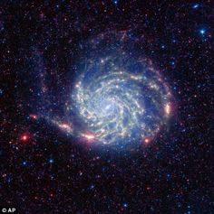 The stunning shots of a freewheeling galaxy from 27m years away