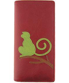 LAVISHY vegan leather large monkey wallet