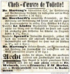 Original-Werbung/ Anzeige 1865 - CHEFS - D'ŒVRE DE TOILETTE / ERFURT - SOMMERDA - ca. 70 x 75 mm