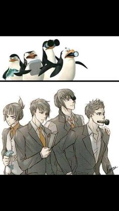 Madagascar movie Anime penguins