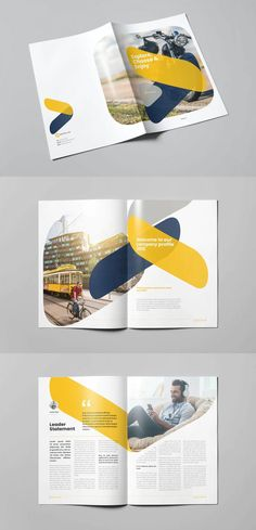 Company Profile Template Design INDD - 24 pages Stationery Printing, Stationery Design, Brochure Design, Brochure Template, Company Profile Design Templates, Book Design Layout, Print Templates, Magazine Design, Brochures