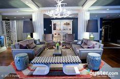 Bright and Bold Decor Hotels for a Valentine's Day Get Away:  W Atlanta – Buckhead Hotel Lobby