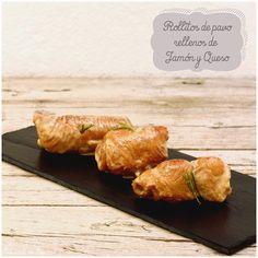 Foto: Receta: Rollitos de pavo rellenos de jamón y queso