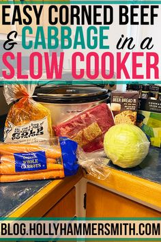 Patrick's Day Dinner: Growing up I always anticipated having corned beef and cabbage for a St. Now I make Jigg's Dinner in a slow cooker crock pot. Delicious Recipes, Snack Recipes, Yummy Food, Crockpot Meals, Slow Cooker Recipes, Jiggs Dinner, Beer Bread, Corn Beef And Cabbage, Corned Beef