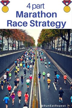 marathon race strategy. Plan out how to run a great marathon and finish strong without hitting the wall. Stay motivated and positive during your race