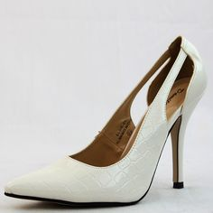 Save 10% + Free Shipping Offer * | Coupon Code: Pinterest10 Condition: Brand New Material: Man Made Material. Heels: 4.25 inches Shoes run big Toe Pointy Pumps Product Code: Elsie-01 White Color DamitaK Pointy Pumps Women's Damita K Elsie-01 Cream Color Pointy Pumps