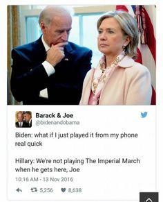 Funny Political Memes starring Joe Biden & Barack Obama- these are great! Joe And Obama, Obama And Biden, Joe Biden, Funny Political Memes, Funny Memes, Hilarious, Funny Politics, It's Funny, Funny