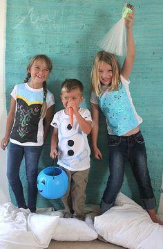 Playeras de Ana, Olaf y Elsa (sí, los de Frozen)