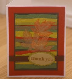 Quilt Inspired Leaves by mayodino - Cards and Paper Crafts at Splitcoaststampers