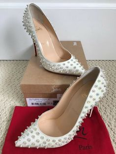 "Christian Louboutin Heels in ""Women's Clothing, Shoes and Heels"" Christian Louboutin Loafers, Christian Louboutin So Kate, Blue Suede Pumps, Beaded Sandals, Designer Heels, Spikes, Pumps Heels, Women's Fashion"