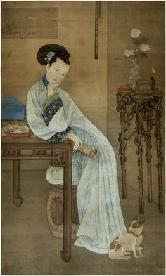Portrait of a lady by Leng Mei, active 1677-1742; Qing Dynasty