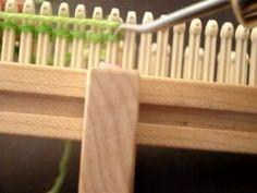 Sock loom.  She has a ton of good loom knitting videos on You tube.