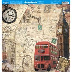 Scrapbook Recipe Book, Decoupage Paper, Shabby Vintage, Paris, Scrapbook Cards, Great Britain, Big Ben, Paper Crafts, London