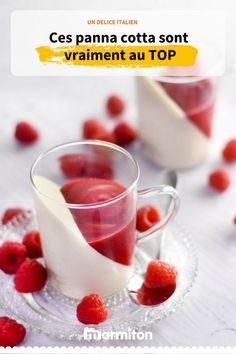 Creme Dessert, Dessert Cups, Fruit Recipes, Sweet Recipes, Dessert Recipes, Italian Desserts, Sweet Desserts, Mousse, Berry Coulis