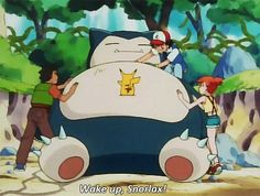Wake up, Snorlax! - you can find lots of new cute pokemon Pokemon Snorlax, All Pokemon, Cute Pokemon, Pikachu, Pokemon Stuff, Gotta Catch Them All, Catch Em All, Pokemon Red Blue