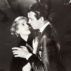 Jimmy Stewart and Joan Fontaine