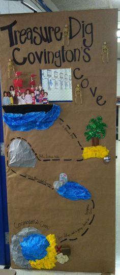 Pirate treasure map classroom door!