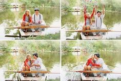 Row Boat Autumn Engagement Session