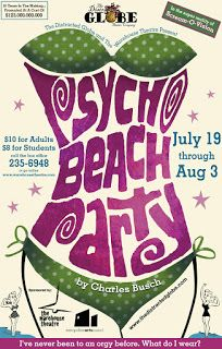 Ryan Bradburn - Design and Creation: Psycho Beach Party - Poster Design