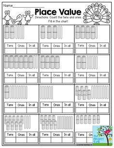 PLACE VALUE and tons of other printables!
