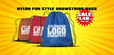 Promotional Drawstring Bag On Sale for $1.49/each #bags #logo #drawstring #events #customized #advertising