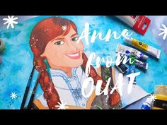 Daily Watercolor #3 Painting Anna From Once Upon A Time - YouTube Painting Process, Painting & Drawing, Original Artwork, Original Paintings, Painting Courses, Disney Concept Art, Winter Solstice, Blue Art, Once Upon A Time